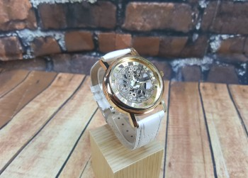 Trendy Watch Unisex - Kleur Wit/Goud (3)