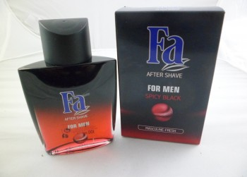 2x fles Fa Aftershave for men spicy black 100ML