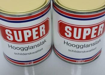 Super Hoogglanslak, Middengeel, 2x 750ml.