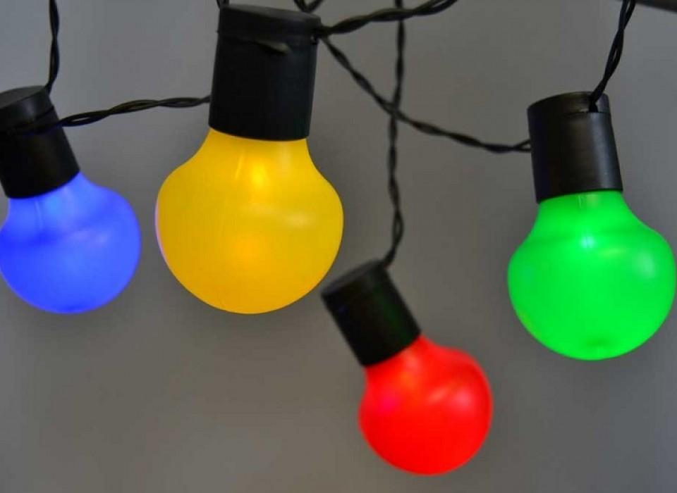 LED Party Verlichting Kleurrijke Balornamenten | JouwVeilingen.nl ...