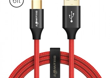 BlitzWolf USB-C Fast Charge & Data Kabel