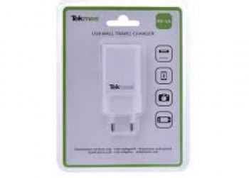 Tekmee USB Wall Travel Charger Wit