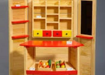 Winkel met toonbank en diverse  accessoires