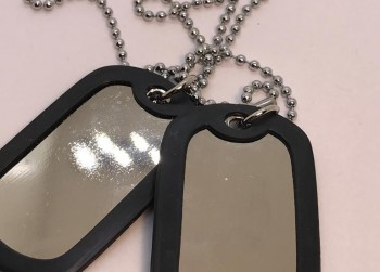 Blanke U.S. army dog tags met ketting  ID TAG