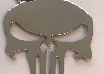 Bijou hanger Punisher Skull Logo aan ketting
