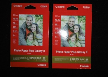 Canon PP-201 photo paper plus glossy II.