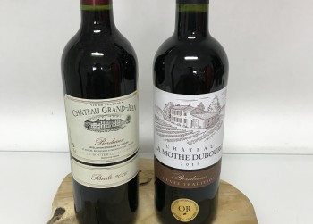 Heerlijke rode wijn, 2 flessen bordeaux Chateau