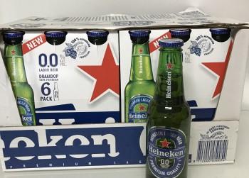 24 flesjes Heineken Bier 0.0, 25 cl.