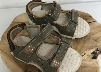 Kinder sandalen, Khaki, (Mikelo) Maat 23