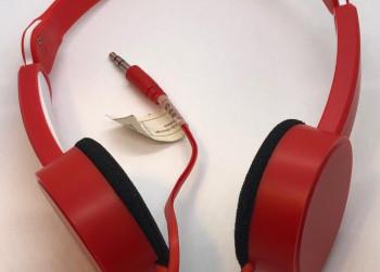 Opklapbare Reis Koptelefoon ROOD + zakje