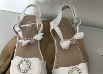 Meisjes schoenen, open, (Doremi) Wit