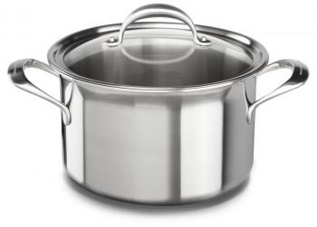 KitchenAid 7 Laags RVS 7.6 L Pan met Glazen Deksel
