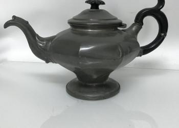 Tinnen Engelse theepot, ca. 1900