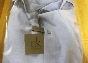 Calvin Klein Overhemd Maat 41 Licht Blauw