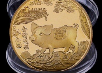 Zware Hobo munt  Year of the Pig, collectible