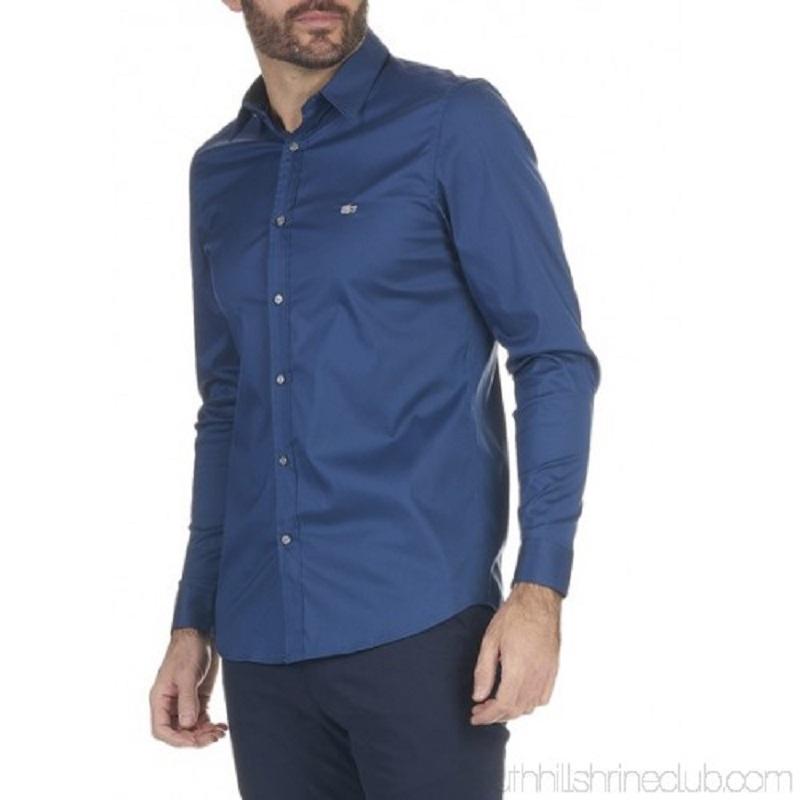 Maat 44 Overhemd.Lacoste Overhemd Donker Blauw Maat 44 Slim Fit Jouwveilingen Nl