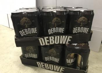 48 blikken DeBowe Bier, 500ml., 7%.