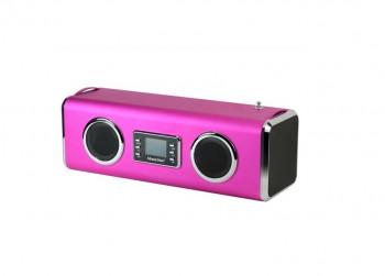 Aktivbox Technaxx MusicMan GIANT Soundstation roze