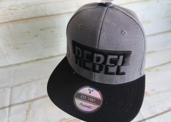 Baseball Cap Rebel Grijs Zwart