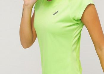 ASICS Sports Dames Shirt Geel Maat S