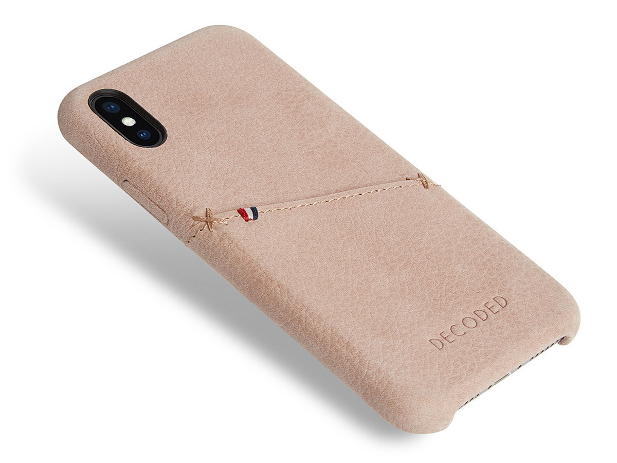 timeless design 7690b 92574 Leather Back Cover for iPhone XS / X Decoded