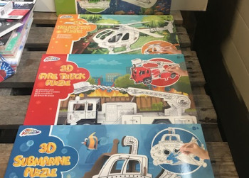 4x 3D inkleurbare puzzels