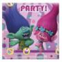 4 x 20 st. Party servetten met afbeelding Trolls