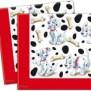 4 x 20 st., servetten met afbeelding: Dalmatiërs