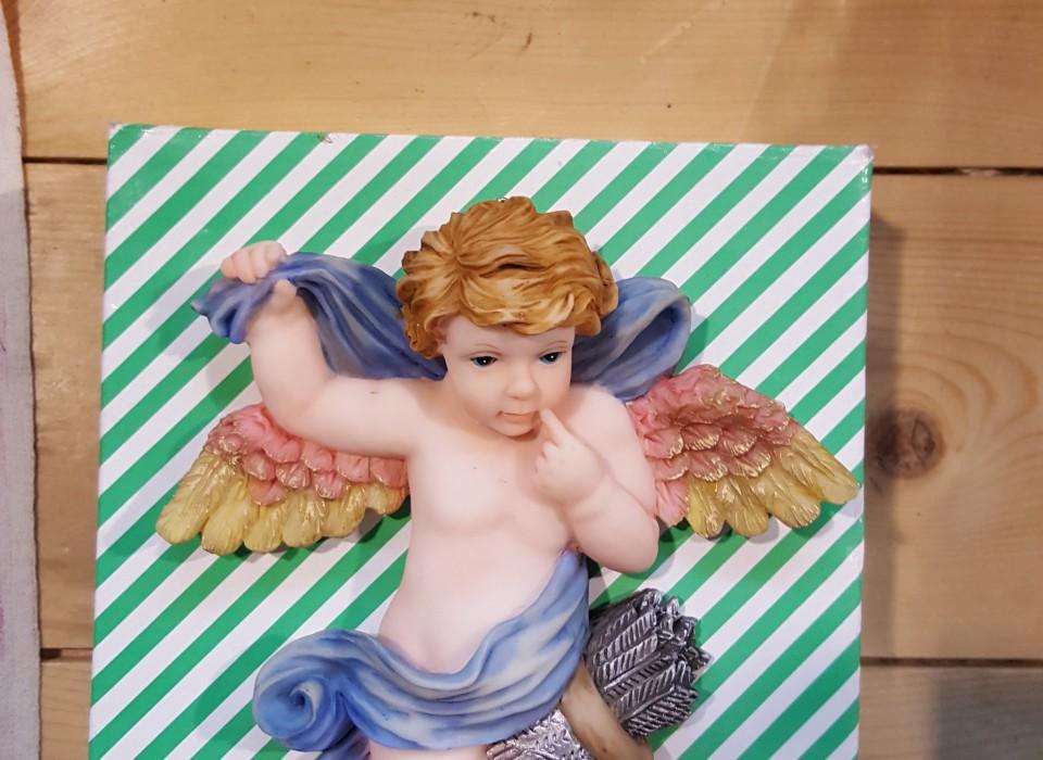 engel op wanddecoratie 14 cm lang jouwveilingennl webshop