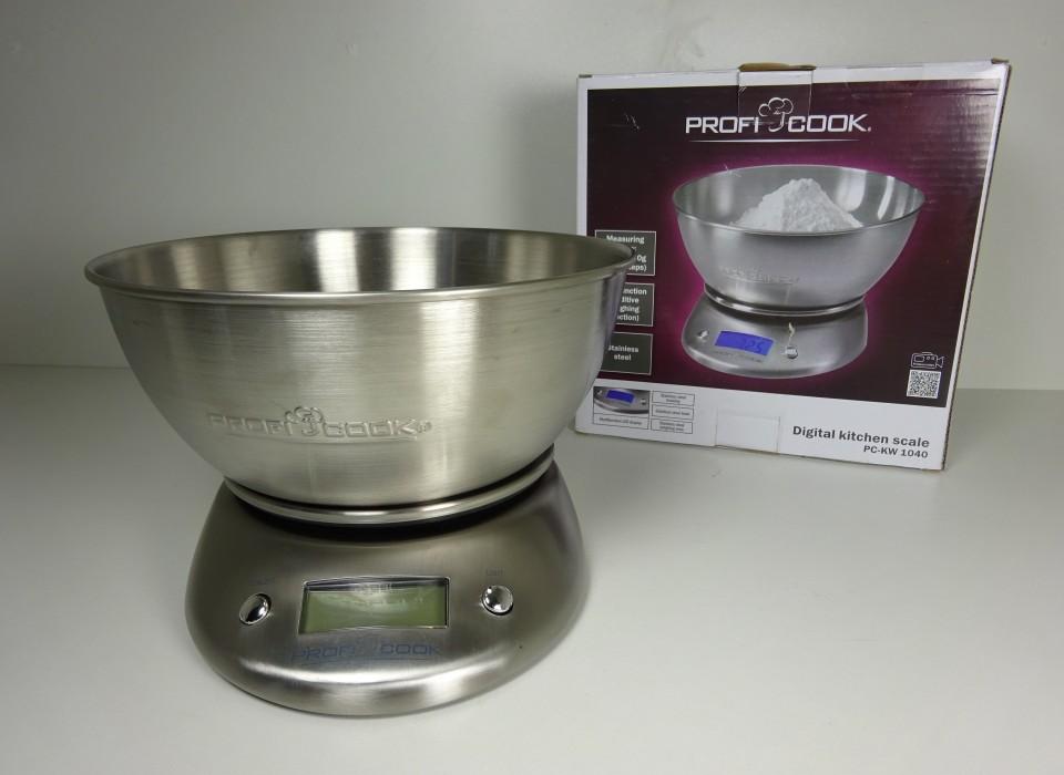 Keukenweegschaal Prijs : Keukenweegschaal ProfiCook KW 1040 nu €8,00