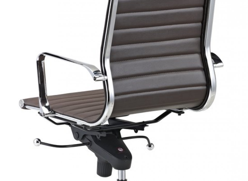 Luxe design bureaustoel van 100% rundleer jouwveilingen.nl webshop