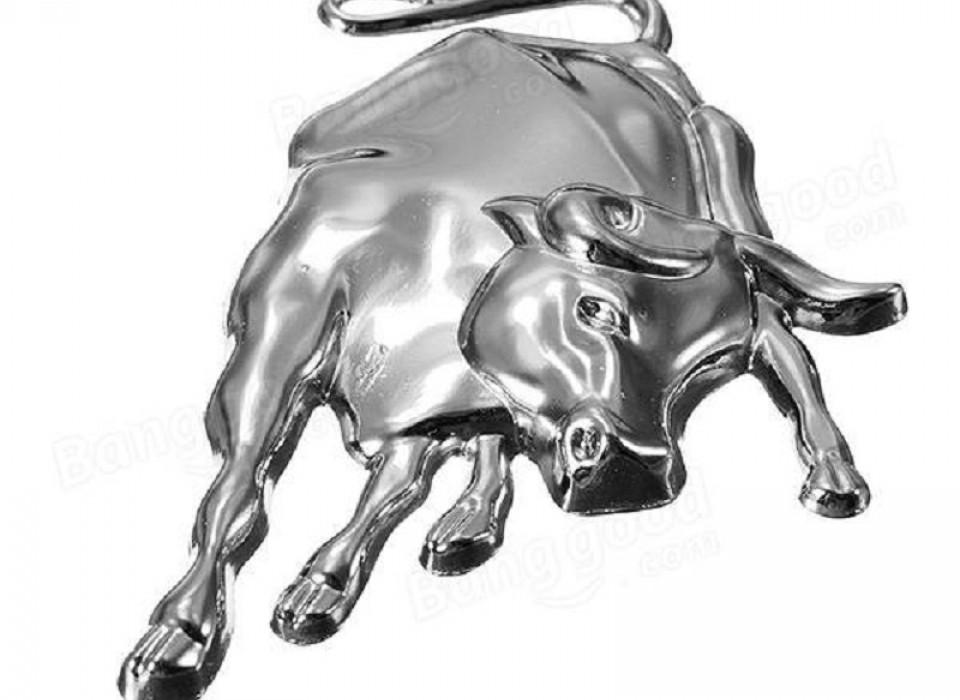 Metalen 3d bull ox decal emblem badge for Metalen decoratie fiets