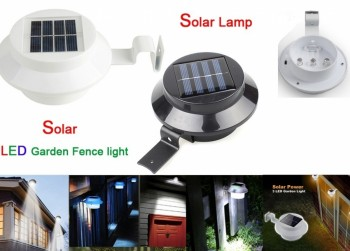 LED Solar Lamp incl. Bevestigings Beugel - Wit