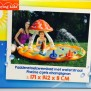 Playing Kids Paddenstoel zwembad met sproeier.