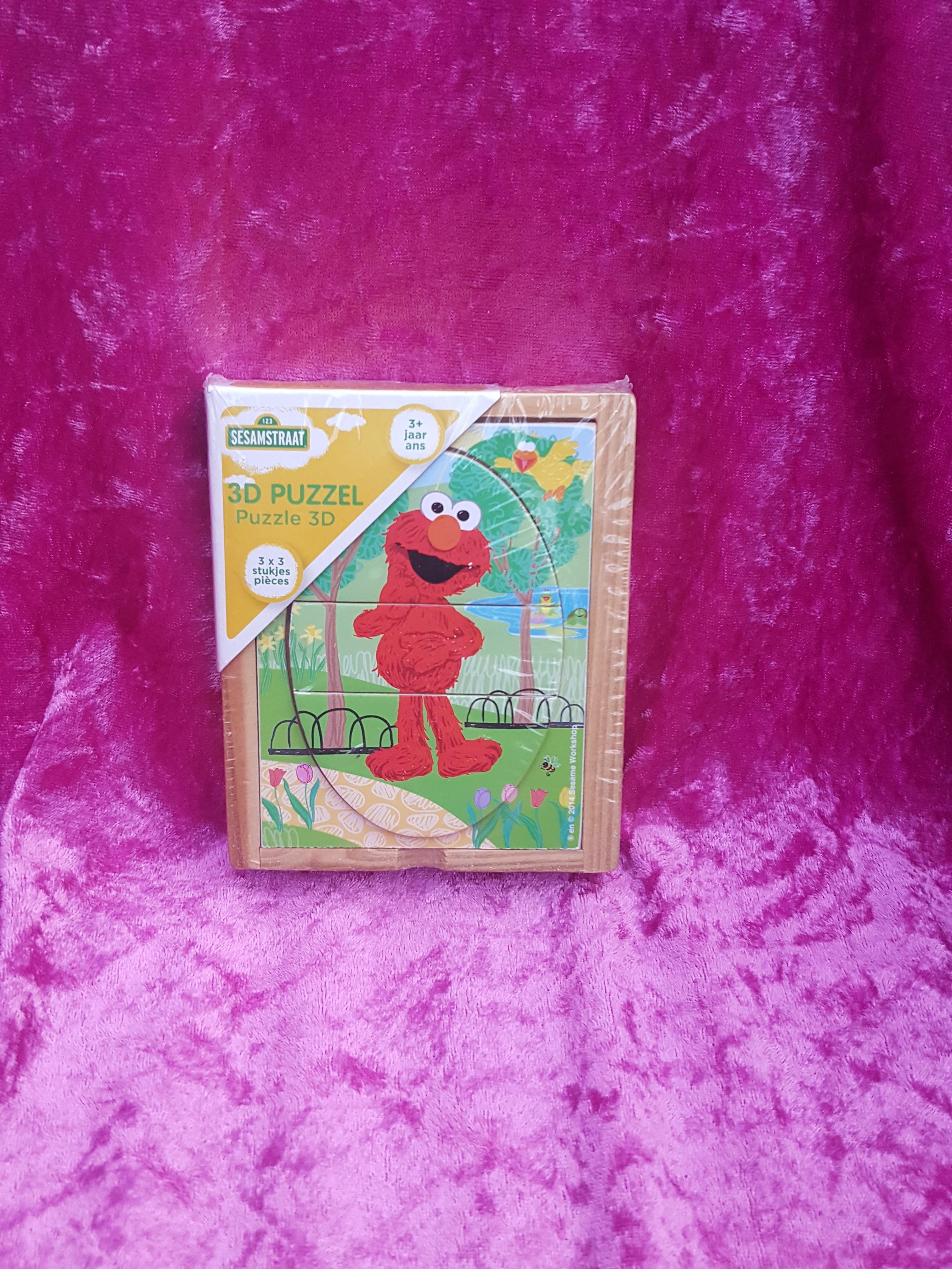 b0852408558 Sesamstraat Elmo Puzzel 3-D | JouwVeilingen.nl webshop