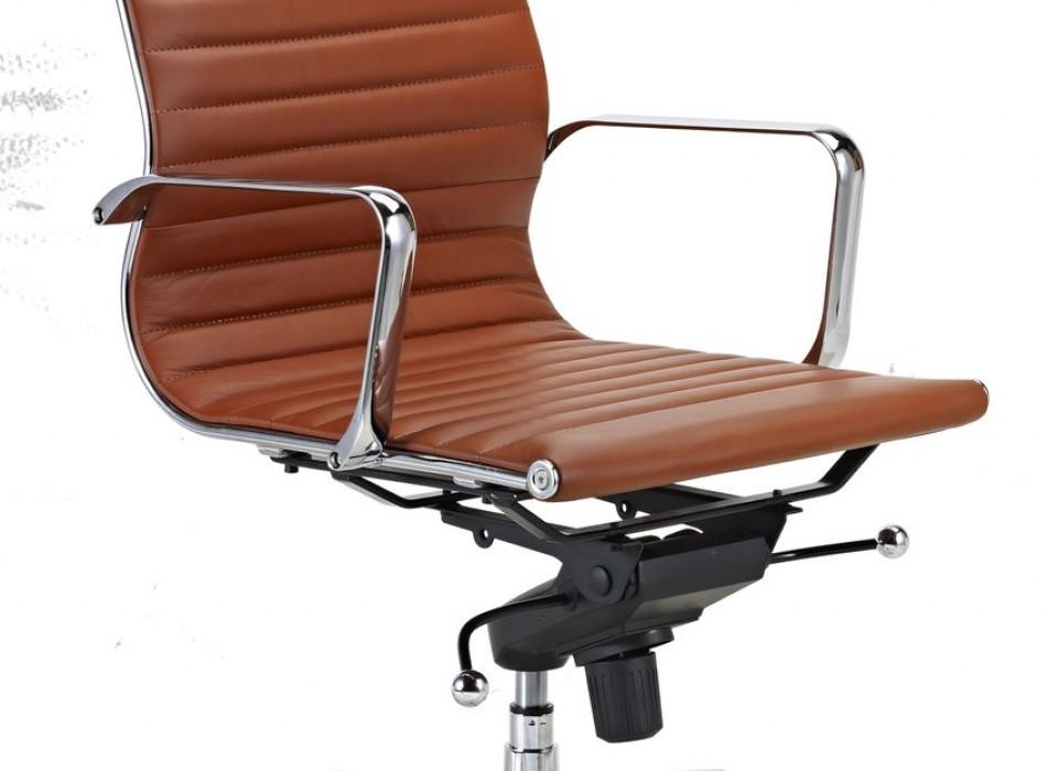 Luxe design bureaustoel van rundleer jouwveilingen webshop