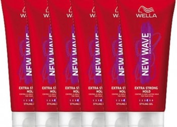 6x200ml Wella New Wave Extra Strong Hold -
