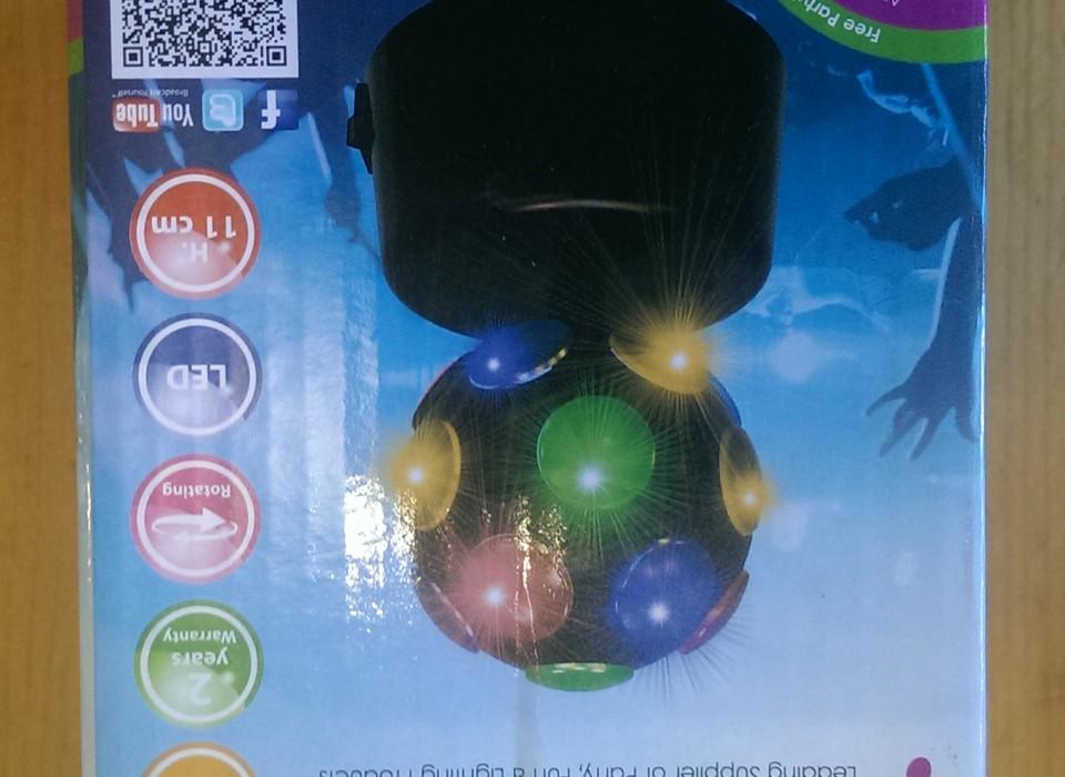 Discobal Met Licht : Ronddraaiende disco bal met led licht jouwveilingen webshop